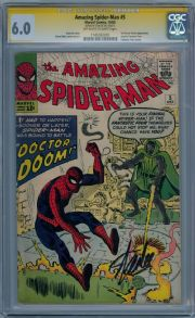 Amazing Spider-man #5 CGC 6.0 Signature Series Signed Stan Lee Silver Age Marvel comic book
